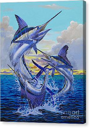 Swordfish Canvas Print - Grand Slam Off0016 by Carey Chen