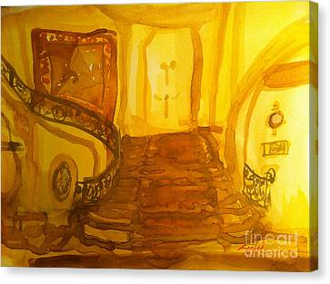 Grand Staircase And Tapestry Canvas Print by Sandra Stone
