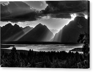 Grand Teton Light Beams Canvas Print