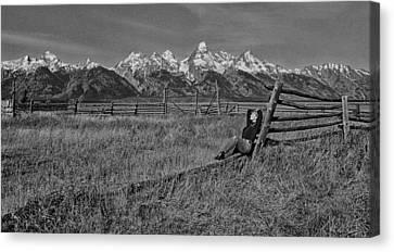 Grand Teton Repose Canvas Print