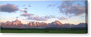 Grand Teton Sunrise Panorama Canvas Print by Brian Harig