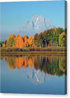 Moran Canvas Print - Grand Tetons In Autumn From The Oxbow by Michel Hersen