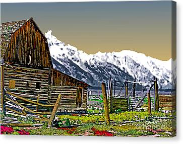 Grand Tetons-mormon Row 11 Canvas Print by Linda  Parker