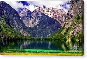 Grand Tetons National Park Painting Canvas Print by Bob and Nadine Johnston