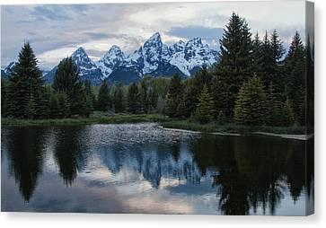 Grand Tetons Reflection Canvas Print by Jack Nevitt
