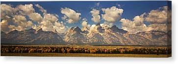 Canvas Print featuring the photograph Grand Tetons by Sonya Lang