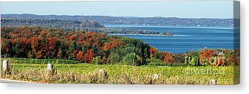 Grand Traverse Winery Lookout Canvas Print by Optical Playground By MP Ray