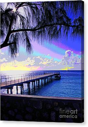Grand Turk Sunset Canvas Print