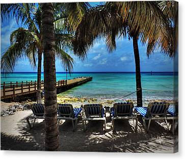 Grand Turk Vacation 001 Canvas Print by Lance Vaughn