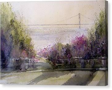 Grand View Mackinac Bridge Canvas Print