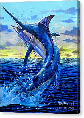 Swordfish Canvas Print - Grander Off007 by Carey Chen