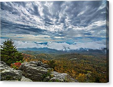 Grandfather Mountain Canvas Print by John Haldane