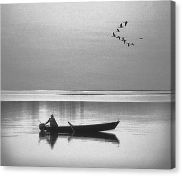 Grandfather Was A Fisherman Canvas Print