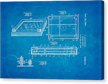 Etch A Sketch Canvas Print - Grandjean Etch A Sketch Patent Art 1962 Blueprint by Ian Monk