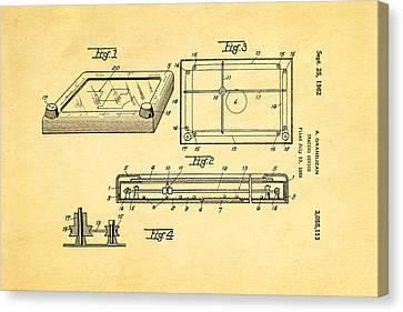 Etch A Sketch Canvas Print - Grandjean Etch A Sketch Patent Art 1962 by Ian Monk