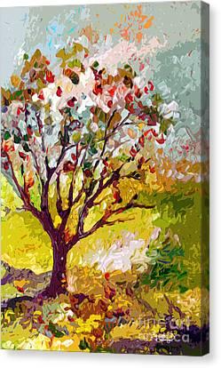 Grandmas Apple Tree Modern Art Canvas Print by Ginette Callaway