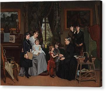 Grandmas Birthday Canvas Print by Louis Edmond Pomey