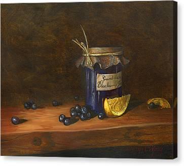 Grandma Canvas Print - Grandma's Blueberry Jam by Jeff Brimley
