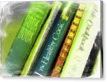 Grandma's Cookbooks Canvas Print by Bonnie Bruno