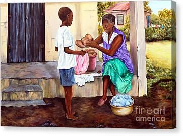 Grandma's Creole Bread Canvas Print by Anna-maria Dickinson