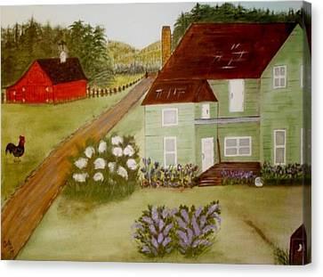 Grandmas Farm Canvas Print by Cindy Micklos