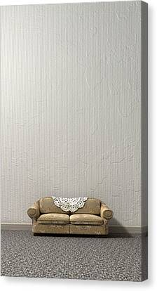 Grandmas Lonely Sofa Canvas Print