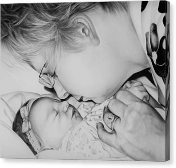 Canvas Print featuring the drawing Grandma's Love by Natasha Denger