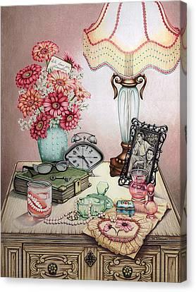 Grandma's Pearly Whites Canvas Print