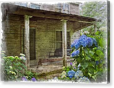 Cabin Window Canvas Print - Grandma's Porch by Debra and Dave Vanderlaan