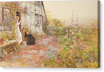 Grandmother Canvas Print by Thomas James Lloyd