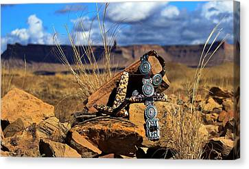 Grandmother's Belt Canvas Print by Chelsea Begay