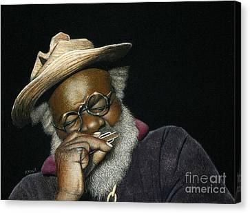 Grandpa Elliott In Miniature Canvas Print
