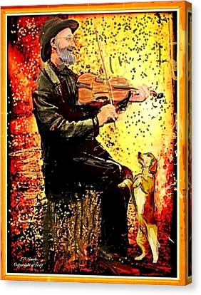 The Music Lover. Canvas Print by Larry Lamb