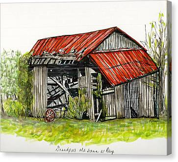 Grandpa's Barn Canvas Print by Karen Wilson