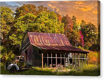 Grandpa's Old Truck Canvas Print by Debra and Dave Vanderlaan