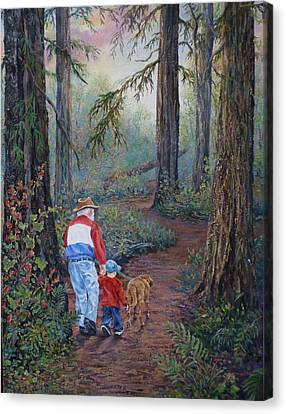 Grandpa's Pathway  Canvas Print by Gracia  Molloy