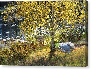 Boat Canvas Print - Grandpa's Place by Bruce Thompson