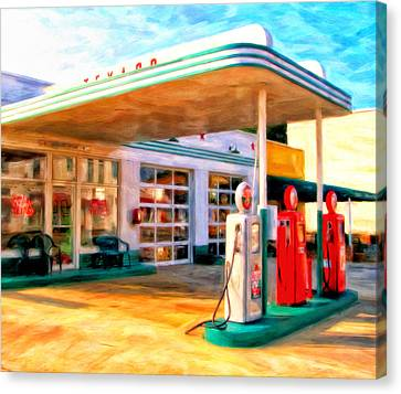 Grandpa's Texaco Canvas Print by Michael Pickett