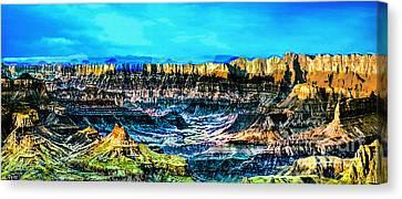 Grandview Viewpoint Grand Canyon Canvas Print by Bob and Nadine Johnston