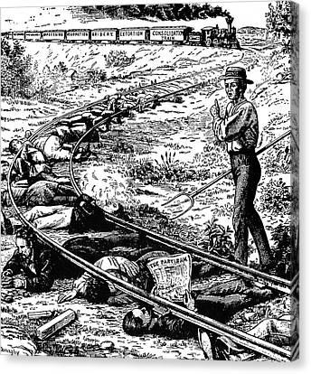 Grange Cartoon, 1873 Canvas Print by Granger