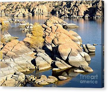 Granite Dells Canvas Print by Jim Chamberlain