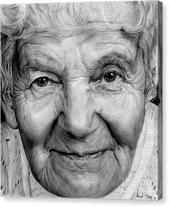 Hyperrealistic Canvas Print - Grannies 12#03 by Arual Jay