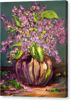 Granny Mabry's Lilacs Canvas Print by Barbara Pirkle