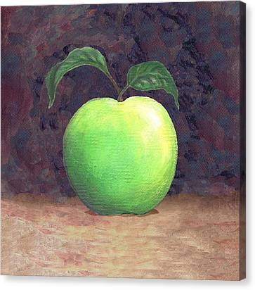 Granny Smith Apple Two Canvas Print by Linda Mears
