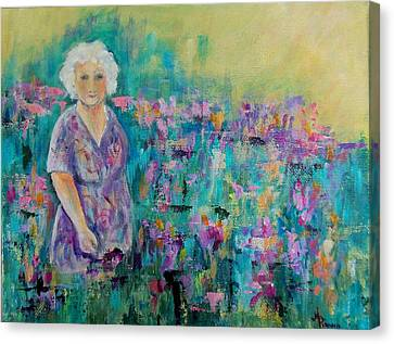 Granny's Garden Canvas Print