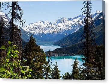 Grant Lake Overlook Canvas Print by Chris Heitstuman