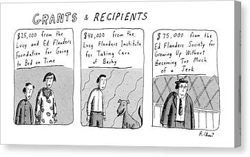 'grants & Recipients' Canvas Print by Roz Chast