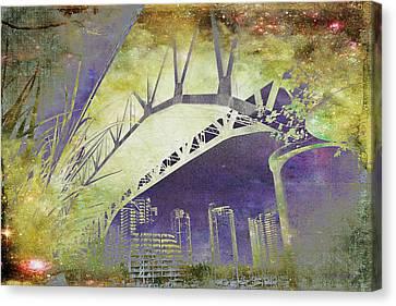 Granville Street Bridge - Inside Out Canvas Print