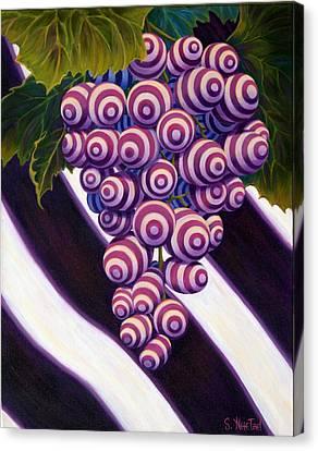 Grape De Menthe Canvas Print by Sandi Whetzel
