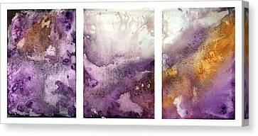 Grape Impressions Original Madart Painting Canvas Print by Megan Duncanson